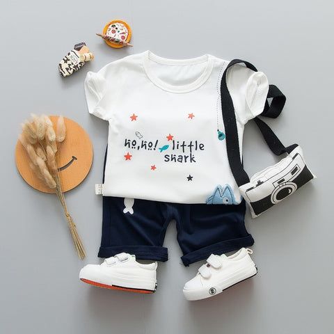 New Infant Summer Children Boys Girl Clothing Baby Fashion Fishing T-shirt Pants 2Pcs/Sets Kids Sport Clothes Toddler Tracksuit - thefashionique