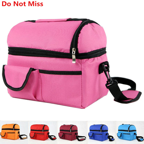 New Insulation Cooler Bag Multifunction Clutch Portable Picnic Thermal Food Ice Pack Shoulder Large Food Bag Functional Bags