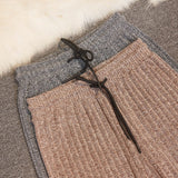 New Korean Fashion Women Trousers Autumn Winter knitted Wide Leg Pants Elastic High Waist Plus Size Casual Loose Pants S-2XL - thefashionique