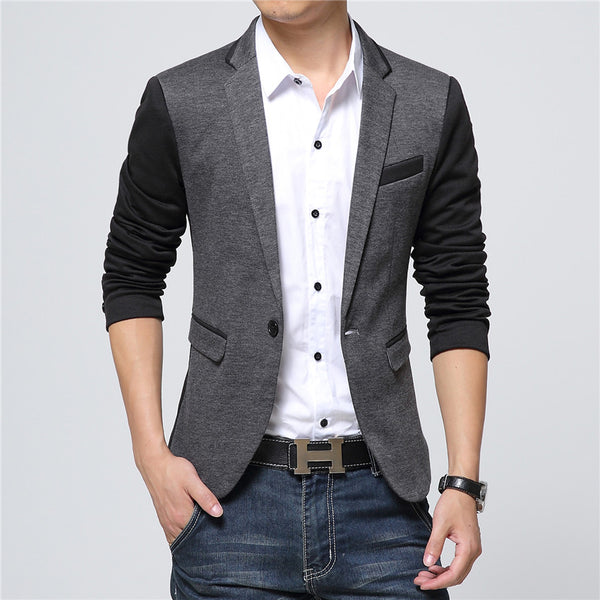 New Men Blazer Fashion Luxury Woolen Blends Patchwork Slim Suit Jackets Business Suit Male Wedding Dress Men M-6XL - thefashionique