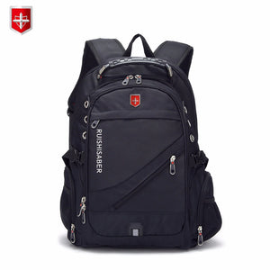 New Oxford Swiss Backpack USB charging 17 Inch Laptop Men Waterproof Travel Rucksack Female Vintage School Bag bagpack mochila - thefashionique