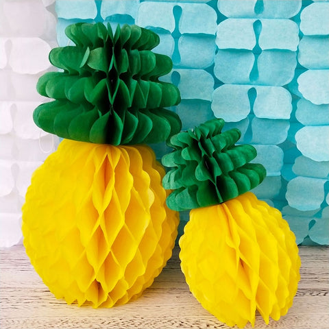 New Pineapple Tissue Paper Honeycomb Table Luau Hawaiian Party Hanging Decoration Birthday Party Festive & Party Supplies