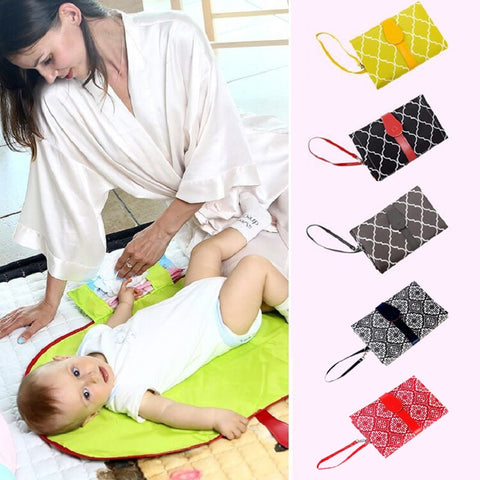 New Portable Baby Diaper Changing Mat Nappy Changing Pad Travel Folding Changing Station Clutch Baby Care Product Hangs Stroller