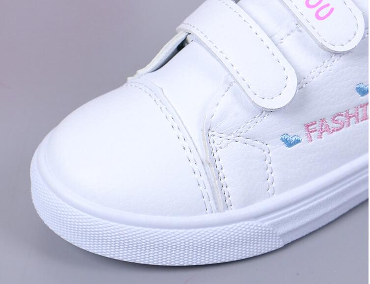 New Soft Leather Fashion Sneakers Shoes For Girls Flat With butterfly Sneakers Child Kids Toddler Sneakers Shoes Size 25-36 - thefashionique