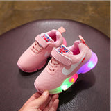 New Sports LED running colorful lighting kids sneakers Spring Autumn  Children's Light shoes School girls boys children shoes - thefashionique