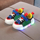New Spring Autumn Glowing Girls Sneakers Kids Basket Led Children Lighting Shoes Boys illuminated Luminous Sneaker - thefashionique