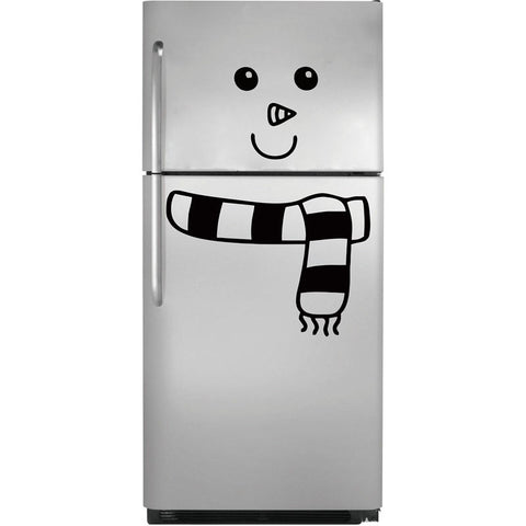 New Style Snowman Fridge Decal Vinyl Art Stickers Cute Cartoon Fridge Winter Decor Free Shipping - thefashionique