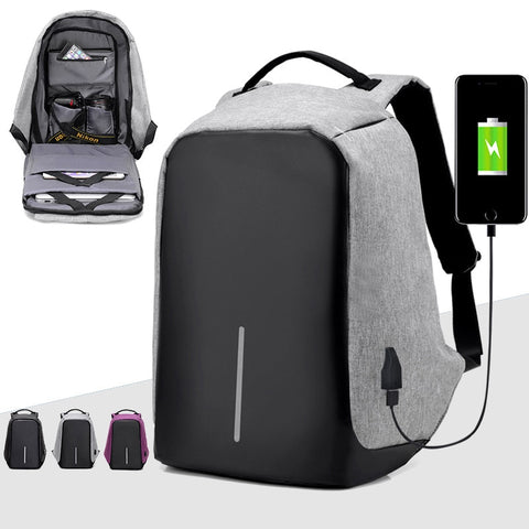 New Unisex 15 inch Laptop Backpack USB Charging Anti Theft Backpacks Men Travel Backpack Waterproof School Bags Female Mochila