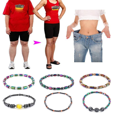 New Weight Loss Magnet Anklet Colorful Stone Magnetic Therapy Bracelet Anklet Weight Loss Product Slimming  Care jewelry - thefashionique