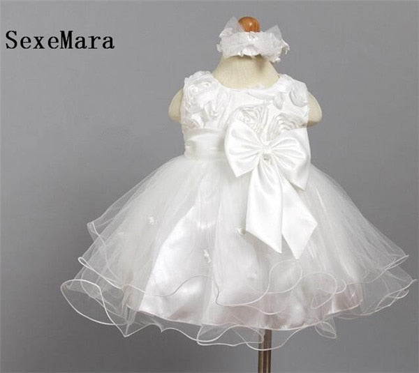 c99d5e0e70499 New White Baby Birthday Dress Baby Girl Christening Gowns Baby Girl Baptism  Dresses First Year Communion Tutu Girl Dress