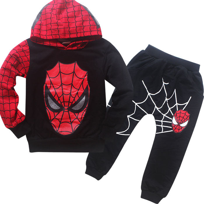 New Winter Autumn Trolls Boy Kids Spiderman Cosplay Clothing Sets Children Costume Clothes Baby Boy Sport Suit Pullover Set - thefashionique