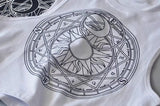 New Womens Tanks Loose Gothic Symbols Moon Sun Printing Crop Top Cropped Top Sleeveless Camis Tank Top - thefashionique