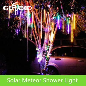 New Year 30cm Solar Outdoor Meteor Shower Rain 10 Tubes LED String Lights Waterproof For Tree Christmas Wedding Party Decoration