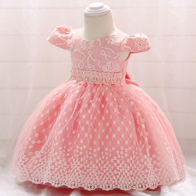 New Year Infant Baby Girl Dress Lace Flower Baptism Dresses for Girls 1st Year Birthday Party Wedding Children Clothing Clothes - thefashionique