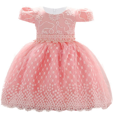 eba335d77a9 New Year Infant Baby Girl Dress Lace Flower Baptism Dresses for Girls 1st  Year Birthday Party