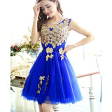 New arrival peacock design short lady girl women princess bridesmaid banquet party ball dress gown - thefashionique