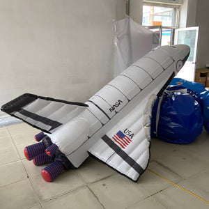 New custom advertising 1:1 simulation model inflatable space shuttle airship