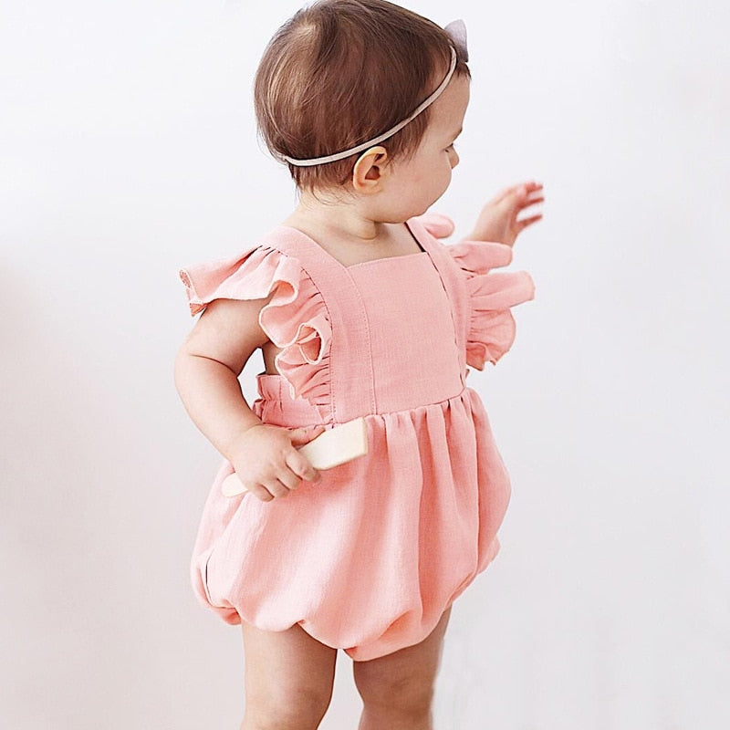 New orangemom baby girl clothes 4 colors infant  girls summer rompers 0-3 years jumpsuit baby romper imported costume - thefashionique