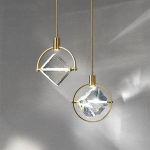 New post-modern crystal pendant lights Nordic luxury dining room bedroom bedside hanging lamp restaurant aisle luster crystal