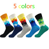 New standard increase size 39-47 casual cotton socks high quality delivery men socks, colorful socks (5 pairs / batch) No Box - thefashionique