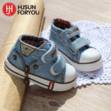 New style children canvas shoes girls and boys fashion flats shoes breathable kids sneakers child casual baby shoes size 19-24 - thefashionique