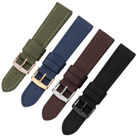New style quality nylon and leather watchbands 18mm20mm22mm nylon strap waterptoof watch chain men's female bracelet