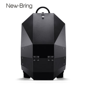 NewBring Metal Backpack For Travel Anti-theft Laptop Backpacks Man Moto Racing Shoulder Bag Male Bagpack - thefashionique