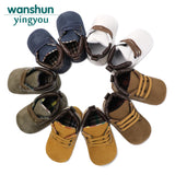 Newborn Baby Boys Classic Handsome First Walkers Shoes Babe Infant Toddler Soft Soled Boots 5 color selection bebes - thefashionique