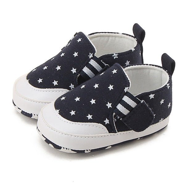 Newborn Baby Boys Girls First Walkers Shoes Bebe Infant Soft Bottom Star Shoes Soled Non-slip Footwear Crib Shoes First Walkers - thefashionique