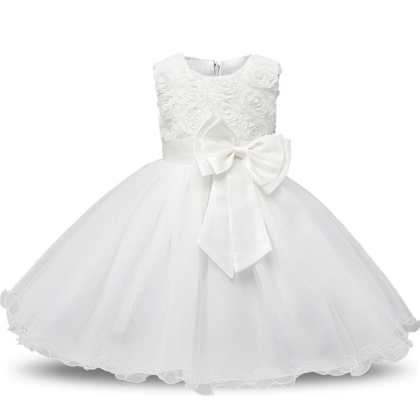 Newborn Baby Dress Baby Girl Christening Gowns Baby Girl Baptism Dresses First Year Birthday Tutu Infants Little Girls Dress - thefashionique