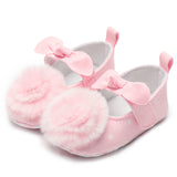 Newborn Baby Girl Shoes Crib Shoes Shallow Infant Toddler Kid Baby Girl Shoes Chiffon Flower Mocassin 0-18 Months - thefashionique