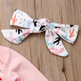 Newborn Baby Girls Outfits 3 Pieces Tops Long Sleeves Bodysuit and Pants Set Toddler Autumn Clothes Tracksuit - thefashionique