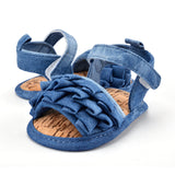 Newborn Baby Jean Look Summer Shoes Girls Kids Infant Soft Sole Toddler Shoes  0-18M - thefashionique