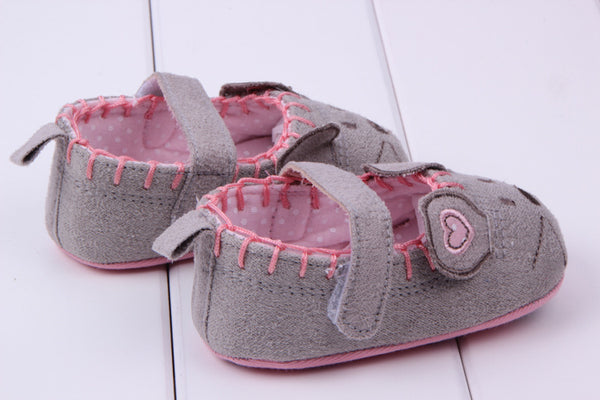 Newborn Baby Shoes Girls Toddler Canvas Animal Pattern Soft First Walkers Princess Baby Shoes For Girl Boy Infant Shoes 3 size - thefashionique