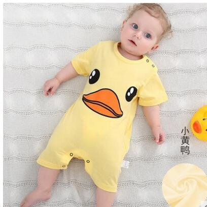 Newborn Baby clothes Summer Girl Romper Clothes Cute Bebes Summer Outfit Sunsuit Jumpsut Baby Shorts Sleeves Cotton 0-24Month - thefashionique