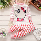 Newborn Girls Clothes Baby Boy Clothing Sets Fashion Long Sleeve Infant Baby Outfit Kids Cotton Suit Top Pant Spring Autumn Wear - thefashionique