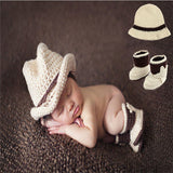 Newborn photography props baby studio photo shoot girls fotografia bebe Handmade Girls Outfit Baby Gift crochet knit costume set - thefashionique