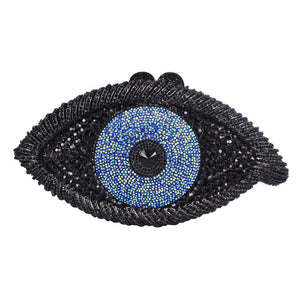 Newest Designer Crystal Purse Evil eyes Special Design Clutches Female Evening Bags Purse A536