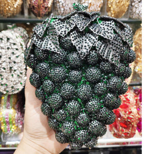 Newest Fruit grape Designer Evening Bags Party Purse Women Clutch Bags Mini Handbags Ladies Wedding Purse A654