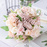 Nordic Artificial Flower Rose Holding Wedding Bouquet Silk Flower for Home Party Table Decoration Fall Decorations Fake Flower