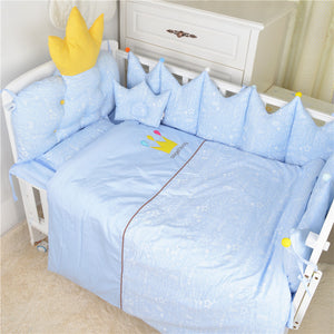 Nordic Style Baby Cotton Embroidered Bedding Set Bed Four Seasons  Baby Bedding Ten Sets Bed Bumper - thefashionique