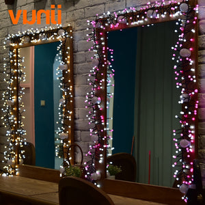 Novelty! 8M 400 LED UL Adapter LED String Lights for Xmas Garland Cafe Party Wedding Decoration Christmas Fairy Light