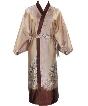 Novelty Camel Male Silk Kimono Bath Robe Gown Chinese Men Rayon Nightwear Unisex Three Quarter Sleepwear Pajama  NR006 - thefashionique