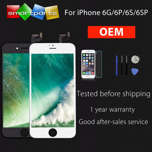 OEM Screen For iPhone 6 6 Plus 6s Plus LCD Screen Replacement Display with 3D Touch Screen Digitizer Assembly, Black and White - thefashionique