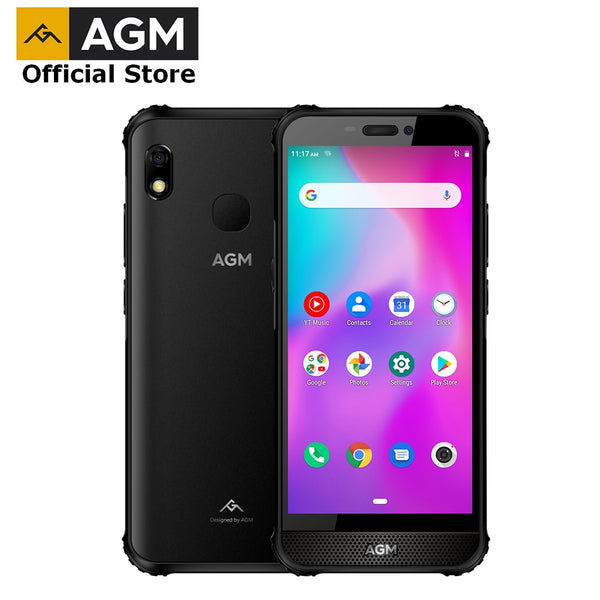"OFFICIAL AGM A10 4G+64G Rugged Phone Android™ 9  4G LTE 5.7"" HD+  Front placed speaker IP68 Waterproof Smartphone"