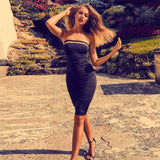 Ocstrade Rayon Vestidos Bandage 2019 New Women Dress Bandage Sexy Black and Nude Ladies Bandage Dresses High Quality - thefashionique