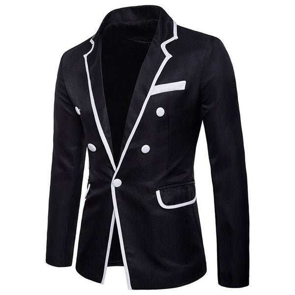 Oeak Brand Mens Blazers Gentlemen British's Style Stand Collar Slim  Suit Jacket Mens Classic Blazers Male Wedding Overcoats - thefashionique