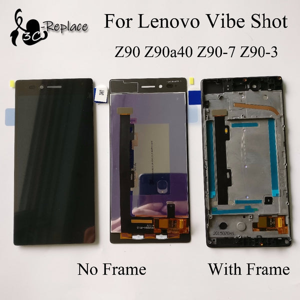 Original 100% New Full LCD DIsplay + Touch Screen Digitizer Assembly With Frame For Lenovo Vibe Shot Z90 Z90a40 Z90-7 Z90-3 - thefashionique