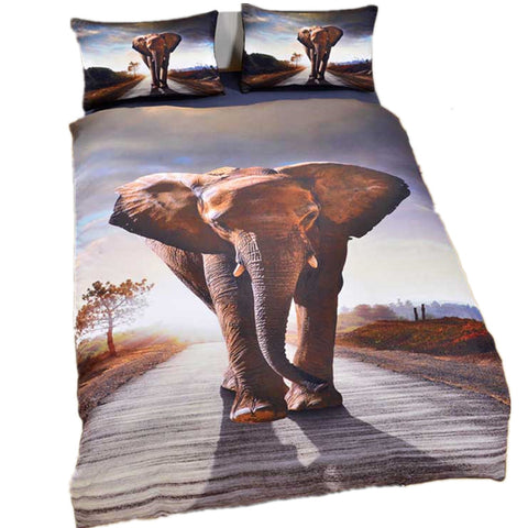 Original Cartoon animal elephant duvet cover Set Home Textiles duvet cover and two pillowcases birthday Gift better bedding sets