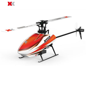Original XK K110 Blast 6CH Brushless 3D6G System RC Helicopter BNF With 4 Pcs Battery - thefashionique